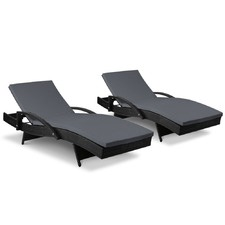 Horden Outdoor Sun Loungers (Set of 2)