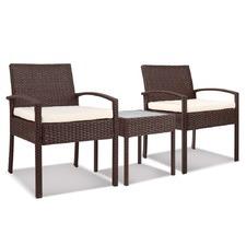 2 Seater Black Horden Outdoor Rattan Lounge Set