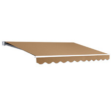 Beige Instahut Retractable Outdoor Arm Awning