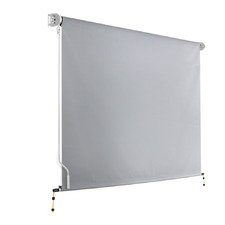 Grey Instahut Retractable Straight Drop Roll Down Awning