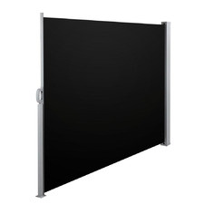 Black Instahut Retractable Side Awning Shade