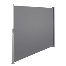 Grey Instahut Retractable Side Awning Shade