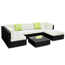 4 Seater Premium PE Wicker Outdoor Lounge Set