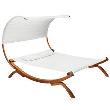 Gideon Double Hammock Bed with Wooden Stand