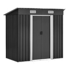 Grey Giantz Sloping Steel Garden Shed