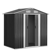 Grey Giantz Steel Garden Shed with Light Trim