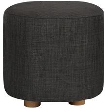 Round Sali Pine Wood Footstool