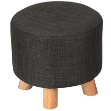 Round Polly Pine Wood Ottoman