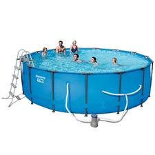 122cm Round Steel Pro Frame Pool