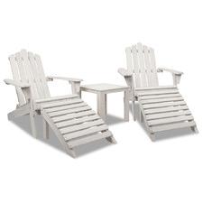 2 Seater Slydes Fir Wood Adirondack Chair & Table Set