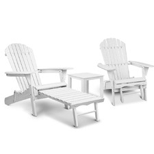 2 Seater Hudson Adirondack Chair & Table Set