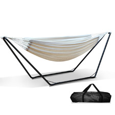 Cream Bella Cotton Hammock Bed with Stand