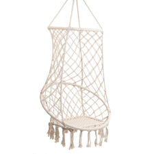 Cream Bondi Cotton-Blend Hammock Swing Chair