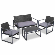 4 Seater Jario PE Wicker Outdoor Table & Chair Set