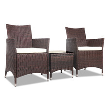 2 Seater Buckley PE Wicker Outdoor Chair & Table Set