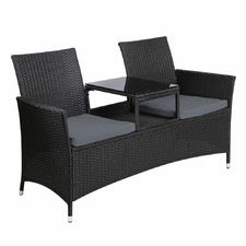 Torres PE Wicker Outdoor Love Seat