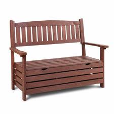 2 Seater Lavand Wooden Outdoor Storage Bench