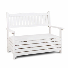 2 Seater Lavand Wooden Outdoor Storage Bench