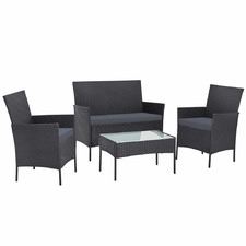 4 Seater Smedley PE Wicker Outdoor Sofa Set