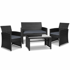4 Seater Escada PE Wicker Outdoor Sofa Set