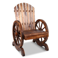 Sheaffer Wooden Wagon Wheel Outdoor Chair