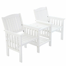 2 Seater Oslow Outdoor Loveseat with Table