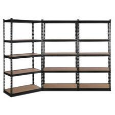 150 x 70cm Black Renzo Steel Shelving Units (Set of 3)