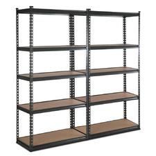 180 X 90cm Charcoal Renzo Steel Shelving Units (Set of 2)