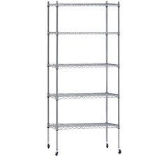 5 Tier Gendry Steel Outdoor Shelving Unit Trolley