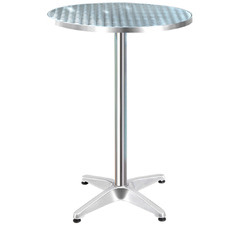Silver Jardin Outdoor Bar Table
