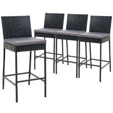 71cm Reva PE Wicker Outdoor Barstools (Set of 4)