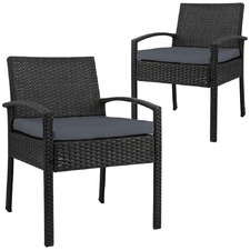 Reva PE Wicker Outdoor Armchairs (Set of 2)