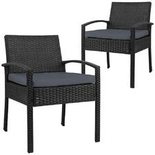 Reva PE Wicker Outdoor Armchairs (Set of 2)