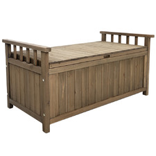 Nyla Wooden Outdoor Storage Bench