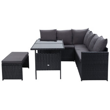 7 Seater Reva Outdoor Dining Set with Storage Cover