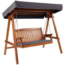 Mohan Wooden 3 Seater Garden Swing