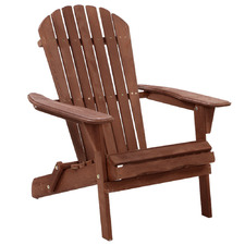 Brown Vito Outdoor Adirondack Chair