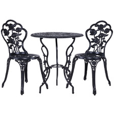 2 Seater Valen Metal Outdoor Bistro Set