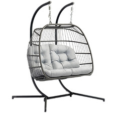 Selima PE Wicker Outdoor Hanging Egg Chair