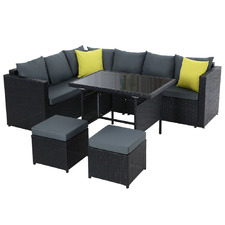 7 Seater Rohan PE Wicker Outdoor Dining Set