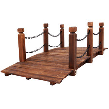 Rustic Oswald Wooden Garden Bridge