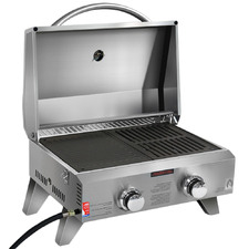 Silver Valent Stainless Steel Portable Gas Grill