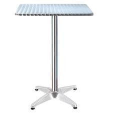 Silver Morini Adjustable Outdoor Metal Bar Table