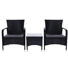 2 Seater Zola PE Wicker Outdoor Lounge Set