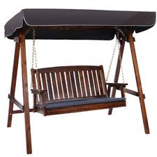 Bozzelli Fir Wood 3 Seater Outdoor Swing