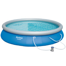 Blue Above Ground Inflatable Swimming Pool