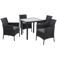 4 Seater Barry PE Wicker Outdoor Dining Set