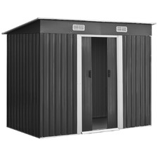 Dark Grey Dayton Steel Garden Shed