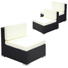 Bailey PE Rattan Outdoor Lounge Chairs (Set of 3)