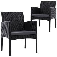 Gardeon PE Wicker Patio Chairs (Set of 2)